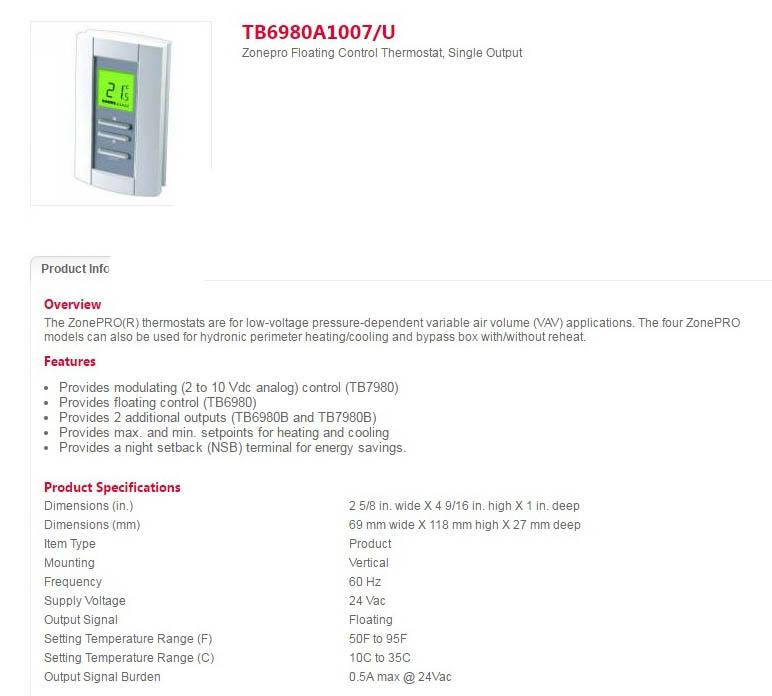 کنترلر دیجیتال اتاقی هانیول سری ZonePRO