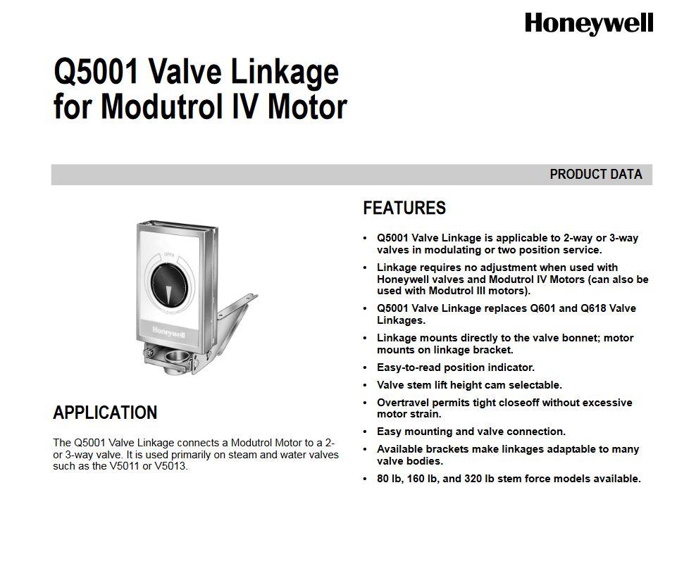 اتصال شیر هانیول مدل Q5001