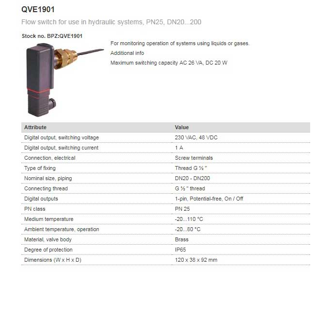 فلو سوئیچ زیمنس مدل QVE1901