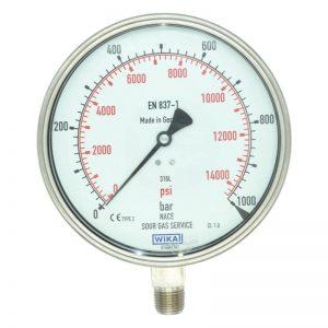 فشار سنج خشک عمودی WIKA صفحه 16 سانت