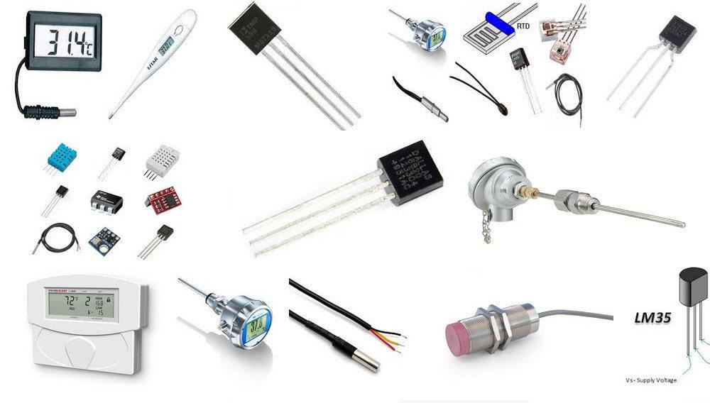 سنسور دما، کاربرد و انواع آنها